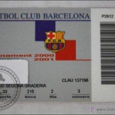 Coleccionismo deportivo: ABONO / ABONAMENT DE SOCIO DEL FÚTBOL CLUB BARCELONA. TEMPORADA 2000-2001 - GOL SUD. Lote 44961917