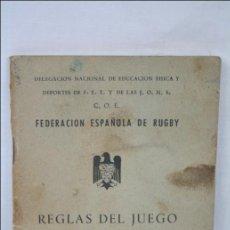 Coleccionismo deportivo: LIBRITO FEDERACIÓN ESPAÑOLA DE RUGBY. FET Y DE LAS JONS - REGLAS DEL JUEGO DEL FÚTBOL- RUGBY - 1961. Lote 44962828