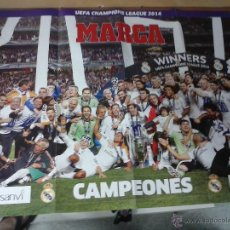 Coleccionismo deportivo: POSTER CONMEMORATIVO REAL MADRID CAMPEON CHAMPIONS.COPA DE EUROPA.DECIMA.MARCA. Lote 45298905