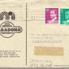 Coleccionismo deportivo: FELICITACION NAVIDEÑA DE DIEGO ARMANDO MARADO A CESAR RODRIGUEZ FUTBOL CLUB BARCELONA 3-1-1983. Lote 45399857