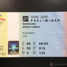 Coleccionismo deportivo: ENTRADA JUEGOS OLIMPICOS BARCELONA 92 1992 -BALONCESTO PRELIMINAR-PALAU D'ESPORTS BADALONA.. Lote 45502125