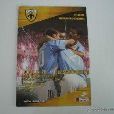 Coleccionismo deportivo: PROGRAMA OFICIAL DEL AEK ATENAS - GRASSHOPPER (UEFA CHAMPIONS LEAGUE,ELIMINATORIAS 03/04)). Lote 45627133