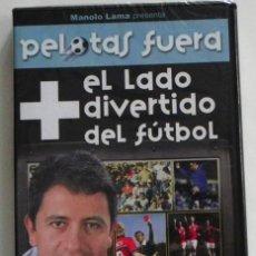 Coleccionismo deportivo: PELOTAS FUERA EL LADO + DIVERTIDO DEL FÚTBOL DVD PRECINTADO MANOLO LAMA DEPORTE HUMOR GOLES ETC MÁS. Lote 45987614