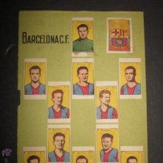 Coleccionismo deportivo: HOJA CROMITOS FC. BARCELONA ( BASORA , CESAR...) Y REVERSO SELECCION ESPAÑOLA - (CD-1164). Lote 46355523