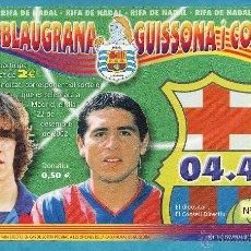Coleccionismo deportivo: PARTICIPACION LOTERIA NACIONAL - FC BARCELONA / BARÇA - PENYA BLAUGRANA GUISSONA - AÑO 2002 - MJJ. Lote 46439567