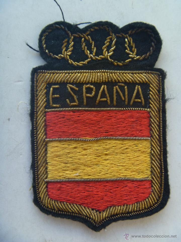 PARCHE ORIGINAL Y NUNCA USADO DEL EQUIPO OLIMPICO ESPAÑOL, AÑOS 60 . BORDADO DE LUJO (Coleccionismo Deportivo - Documentos de Deportes - Otros)