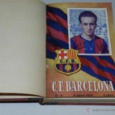Coleccionismo deportivo: CF BARCELONA - BOLETIN DEL CF BARCELONA 1954, AÑO 1954 , DEL NUMERO 9 AL NUM 27. Lote 46907718