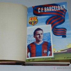 Coleccionismo deportivo: CF BARCELONA - BOLETIN DEL CF BARCELONA 1955, AÑO 1955 , DEL NUMERO 28 AL NUM 51. Lote 46908072