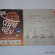 Coleccionismo deportivo: FINAL COPA DEL REY. VITORIA 2008. ACB.. Lote 47230641