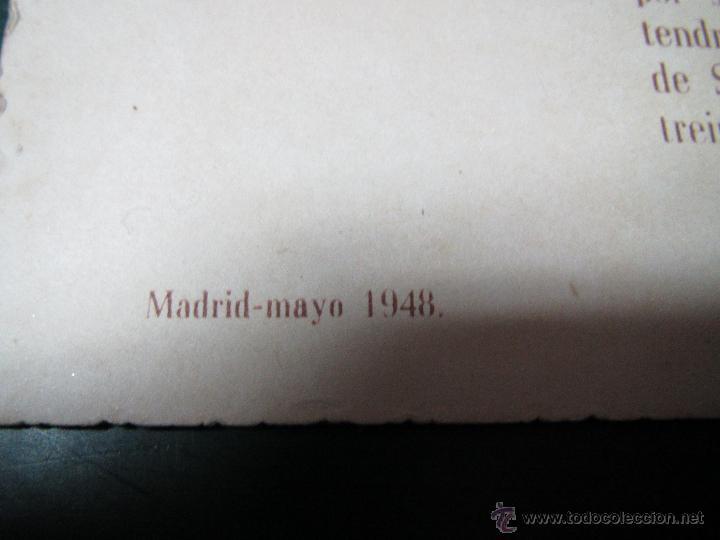 Coleccionismo deportivo: Antigua Tarjeta Cartulina de la Comida Homenaje a Jacinto QUINCOCES del año 1948 - Foto 3 - 47274584