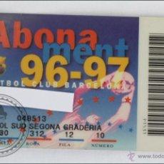 Coleccionismo deportivo: ABONO / ABONAMENT DE SOCIO DEL FÚTBOL CLUB / FC BARCELONA. TEMPORADA 1996-1997 - GOL SUD. Lote 47652570