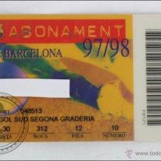 Coleccionismo deportivo: ABONO / ABONAMENT DE SOCIO DEL FÚTBOL CLUB / FC BARCELONA - TEMPORADA 1997-1998 - GOL SUD. Lote 47653448