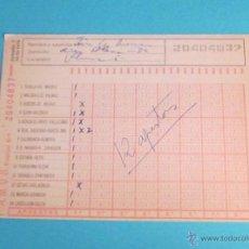 Coleccionismo deportivo: BOLETO QUINIELA JORNADA 7 14/10/1979. Lote 47730890
