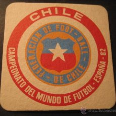 Coleccionismo deportivo: CHILE. POSAVASOS CAMPEONATO MUNDIAL DE FUTBOL ESPAÑA 82. Lote 47741091
