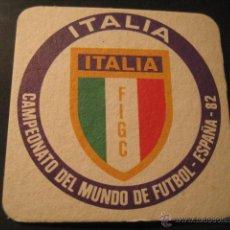 Coleccionismo deportivo: ITALIA. POSAVASOS CAMPEONATO MUNDIAL DE FUTBOL ESPAÑA 82. Lote 47741110