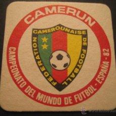Coleccionismo deportivo: CAMERUN. POSAVASOS CAMPEONATO MUNDIAL DE FUTBOL ESPAÑA 82. Lote 47741138