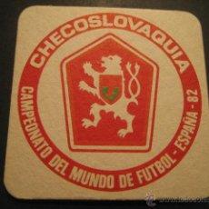 Coleccionismo deportivo: CHECOSLOVAQUIA. POSAVASOS CAMPEONATO MUNDIAL DE FUTBOL ESPAÑA 82. Lote 47741145