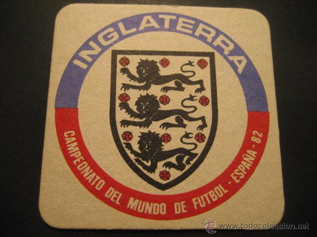 INGLATERRA. POSAVASOS CAMPEONATO MUNDIAL DE FUTBOL ESPAÑA 82 (Coleccionismo Deportivo - Documentos de Deportes - Otros)