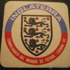 Coleccionismo deportivo: INGLATERRA. POSAVASOS CAMPEONATO MUNDIAL DE FUTBOL ESPAÑA 82. Lote 47741170
