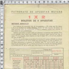 Coleccionismo deportivo: IMPRESO INSTRUCCIONES PARA LA UTILIZACION DEL NUEVO SISTEMA DE QUINIELAS.. Lote 47837609