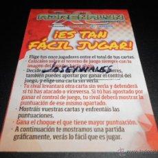 Coleccionismo deportivo: REGLAS INSTRUCIONES DEL JUEGO CROMOS ALBUM ADRENALYN XL LIGA FUTBOL 2013 2014 13 14. Lote 210482893