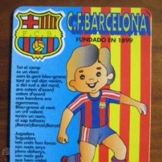 Coleccionismo deportivo: CALENDARIO BOLSILLO BARÇA 1995 HIMNO FC BARCELONA. Lote 48210280