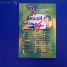 Coleccionismo deportivo: CALENDARIO DE BOLSILLO MUNDIAL DE BRASIL 2014. ACM. Lote 48198325