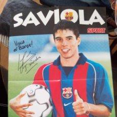 Coleccionismo deportivo: POSTER PRESENTACIÓN SAVIOLA FUTBOL CLUB BARCELONA. DIARIO SPORT. Lote 48350330