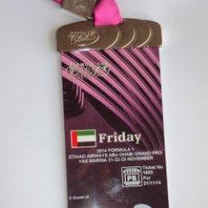 Coleccionismo deportivo: FORMULA 1 ABU - DHABI. GRAN PRIX 2014.. Lote 48649856