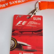 Coleccionismo deportivo: FORMULA 1 ABU - DHABI. GRAN PRIX 2014.. Lote 48650586
