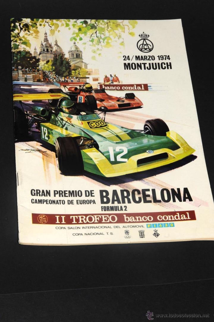 ANTIGUO PROGRAMA GRAN PREMIO CAMPEONATO DE EUROPA BARCELONA FORMULA 2 CIRCUITO MONTJUICH 1974 (Coleccionismo Deportivo - Documentos de Deportes - Otros)