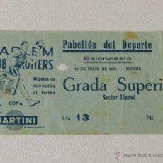 Coleccionismo deportivo: HARLEM GLOBETROTTERS ENTRADA PARTIDO BARCELONA AÑO 1952 BALONCESTO BASKET . Lote 48904333