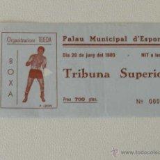 Colecionismo desportivo: ENTRADA BOXEO CAMPEONATO BARCELONA 1980 BOXA. Lote 48921188