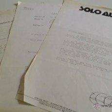 Coleccionismo deportivo: BOLETÍN DE INSCRIPCIÓN EN RALLY II TRAVESÍA 4X4 MADRID - CUENCA - AÑOS 80 - ORGANIZADO POR SOLO AUTO. Lote 49119708