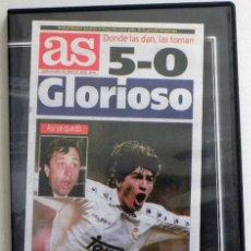 Coleccionismo deportivo: DVD PARTIDO REAL MADRID 5 BARCELONA FC 0 - GLORIOSO AS CLÁSICOS DE LEYENDA FÚTBOL DEPORTE LIGA 1995. Lote 49399595