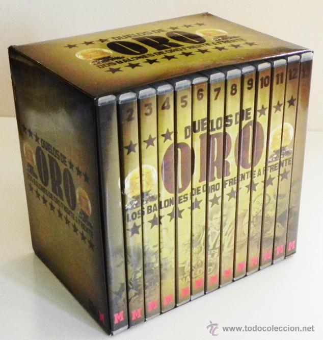 DUELOS DE ORO 13 DVDS COLECCIÓN COMPLETA FÚTBOL DEPORTE DVD PELÉ DI STÉFANO RONALDO ZIDANE MARADONA (Coleccionismo Deportivo - Documentos de Deportes - Otros)