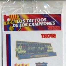 Coleccionismo deportivo: LOS TATOOS DE LOS CAMPEONES - BARÇA ARSENAL - SPORT - 2006 - PRECINTADO. Lote 49702824
