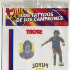 Coleccionismo deportivo: LOS TATOOS DE LOS CAMPEONES - BARÇA ARSENAL - SPORT - 2006 - PUYOL - PRECINTADO. Lote 49702868