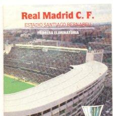 Coleccionismo deportivo: PROGRAMA DEL PARTIDO REAL MADRID - AEK ATENAS. COPA UEFA 1985. ENVÍO: 1,30 € *.. Lote 49842284