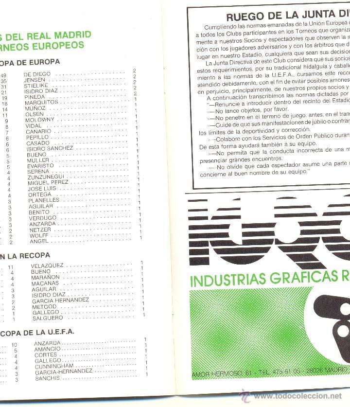 Coleccionismo deportivo: PROGRAMA DEL PARTIDO REAL MADRID - AEK ATENAS. COPA UEFA 1985. Envío: 1,30 € *. - Foto 4 - 49842284