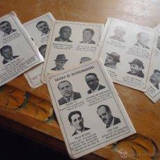 Coleccionismo deportivo: ANTIGUA PEQUEÑA HOJA DEPORTIVA - FUTBOL - SELECCIONADORES AÑOS 20 30 40 50 ...... Lote 50625542