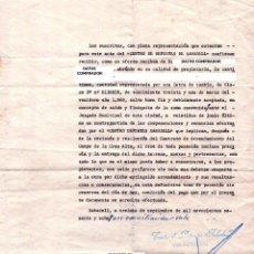 Coleccionismo deportivo: CENTRO DE DEPORTES SABADELL FUTBOL CLUB,F.C. VENTA CAMPO DE LA CREU ALTA,AÑO 1968,CATALUÑA,BARCELONA. Lote 50742148