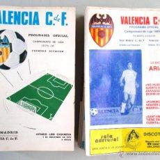 Coleccionismo deportivo: 64 PROGRAMAS FÚTBOL , VALENCIA C.F. , ORIGINALES , AÑOS 75 - 82. Lote 50803787