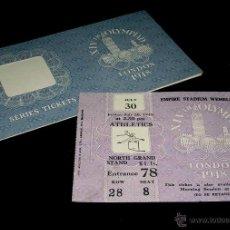 Coleccionismo deportivo: ENTRADA TICKET PASS + FUNDA, ATLETISMO JUEGOS OLÍMPICOS / OLYMPIC GAMES LONDON, LONDRES WEMBLEY 1948. Lote 104657856