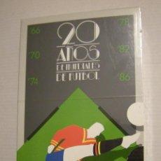 Coleccionismo deportivo: 20 AÑOS DE MUNDIALES DE FUTBOL. VIDEOCASSETTE. DURACION 65 MINUTOS. (AÑO 1986) . Lote 50904338