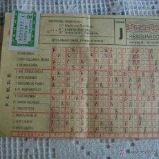 Coleccionismo deportivo: **ANTIGUA QUINIELA DE FUTBOL CON SELLO DE 8 APUESTAS,(60 PTAS) JORNADA 9 30-10-1977**. Lote 50920387