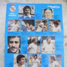 Coleccionismo deportivo: POSTER REAL MADRID.DON BALON.. Lote 51042790