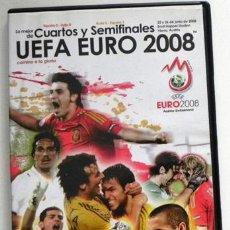 Coleccionismo deportivo: DVD UEFA EURO 2008 LO MEJOR DE CUARTOS Y SEMIFINALES EUROCOPA ESPAÑA FÚTBOL COPA DEPORTE AUSTRIA SUI. Lote 51082315