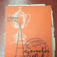 Coleccionismo deportivo: AGENDA DE FÚTBOL,AÑOS 60,ORIGINAL,BUEN ESTADO,VALLADOLID,ES LA AGENDA DE LAS FOTOS. Lote 51353105