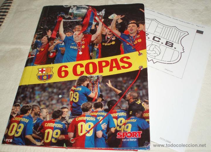 Carpeta Del Fc Barcelona Sport 6 Copas Mas Dibujo Del Escudo Del Barça Para Pintar
